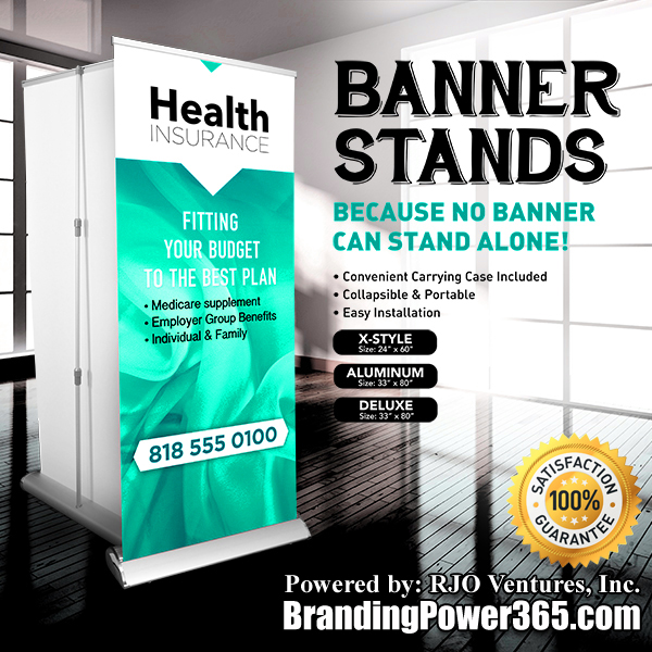 Banner Stands Available by BrandingPower365.com. Powered by: RJO Ventures, Inc. 786-208-1529