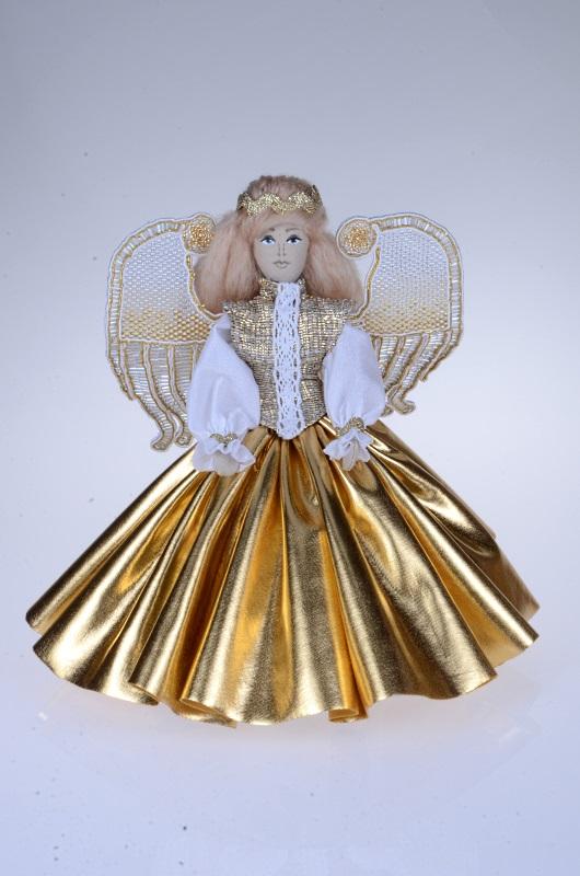 Ręcznie robiony złoty Aniołek.