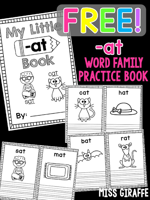 Free short a books with pictures for each word for kids to color and then write easy sentences on the lines