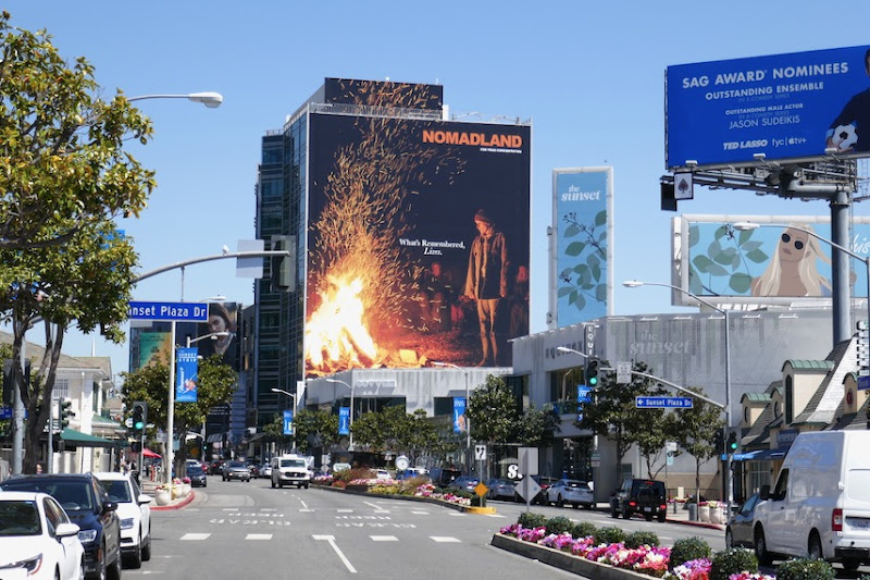 Nomadland Academy Award nominee billboard