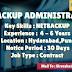 OPENINGS FOR NETBACKUP ADMINISTRATORS