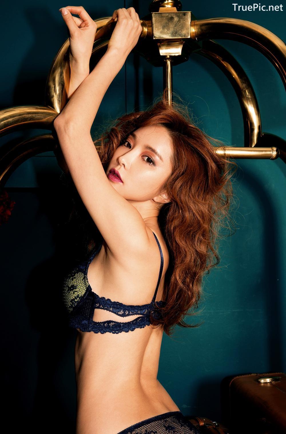 Image Korean Fashion Model - Park Soo Yeon - BVB Black Lace Lingerie - TruePic.net - Picture-4