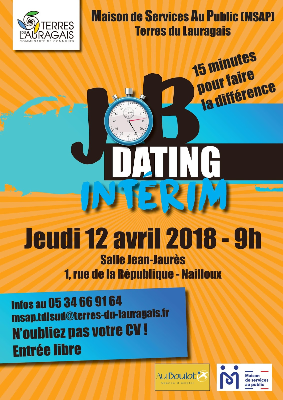 CV pour Job Dating