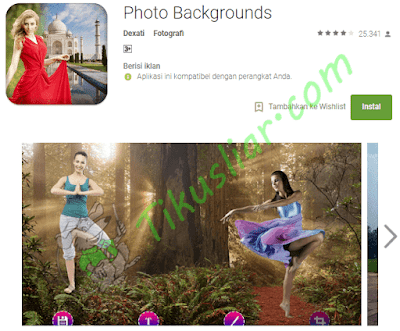 Aplikasi Androidpengganti untuk latar belakang foto