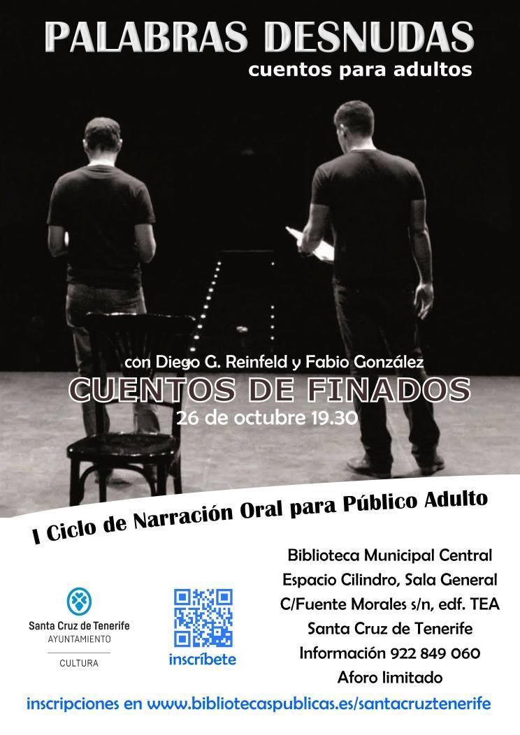 Cartel, 26 de octubre a las 19:30h en el Cilindro del TEA, en Santa Cruz de Tenerife