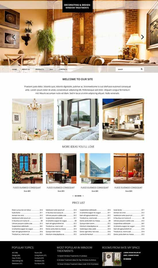 Interior Design Furniture Website Templates 2016