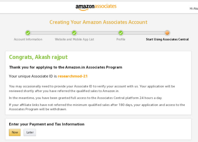 Amazon affiliate program par account kiase banaye  (in hindi)