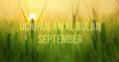 kata ucapan awal bulan september