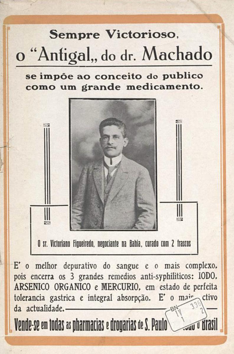 Propaganda antiga do depurativo do sangue antigal veiculada em 1918