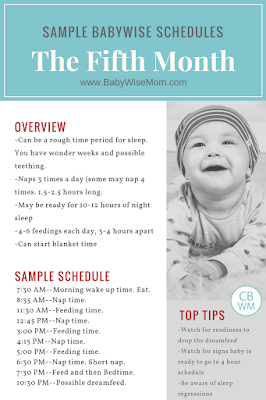 Babywise Sample Schedules: The Fifth Month | baby schedule | sample baby schedules | babywise | babywise schedules | #babywise