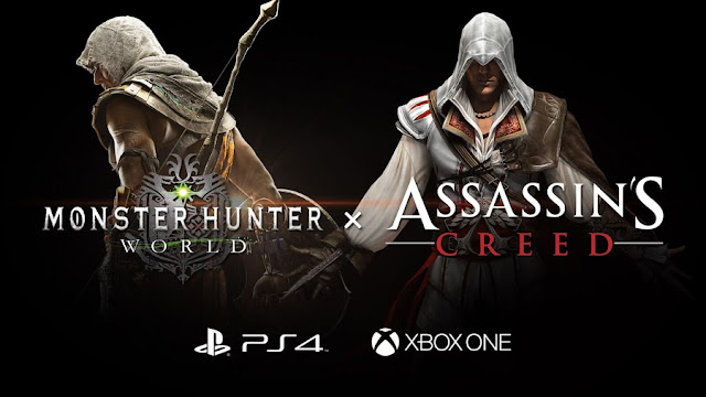 Assassin's Creed Bakal Kolab dengan Monster Hunter:World Last Night