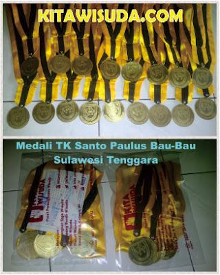 Medali Bahan Kuningan TK Santo Paulus Sulteng