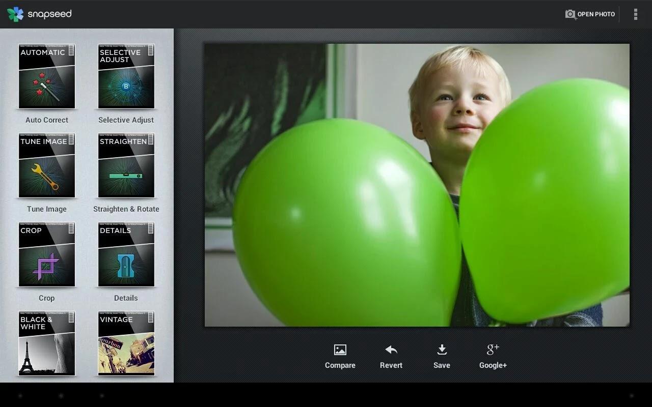 Fitur edit foto Snapseed