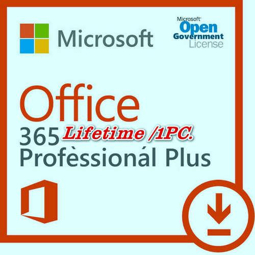Mua bán key bản quyền Office 365 Pro Plus 1PC trọn đời Full 32 Bit và 64 Bit .