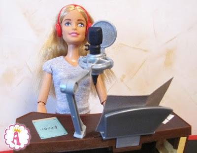 Игровой набор с куклой барби и студией звукозаписи