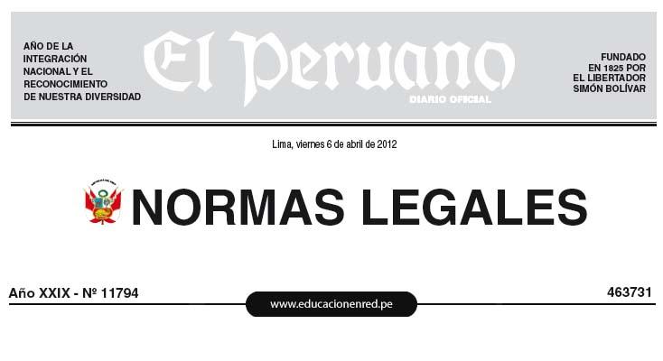 LEY Nº 29849 - Ley que establece la eliminación progresiva del Régimen Especial del Decreto Legislativo 1057 y otorga derechos laborales (CAS)