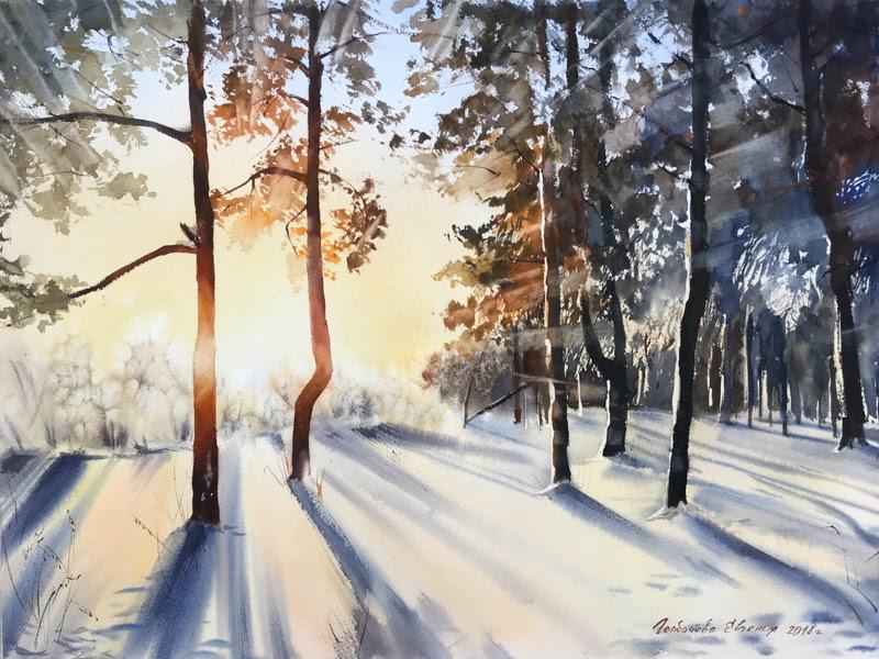 Watercolor Artist Eugenia Gorbacheva from Russia.