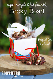 The Best Easy Cadbury Chocolate Rocky Road Recipe with Lollies