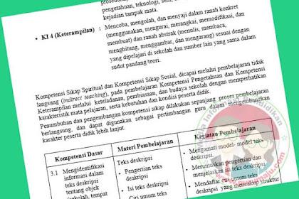 Silabus Bahasa Indonesia SMP Kelas 7 Kurikulum 2013 Revisi Terbaru