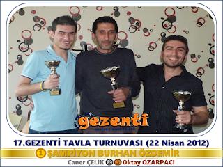 17.Gezenti Tavla Turnuvası