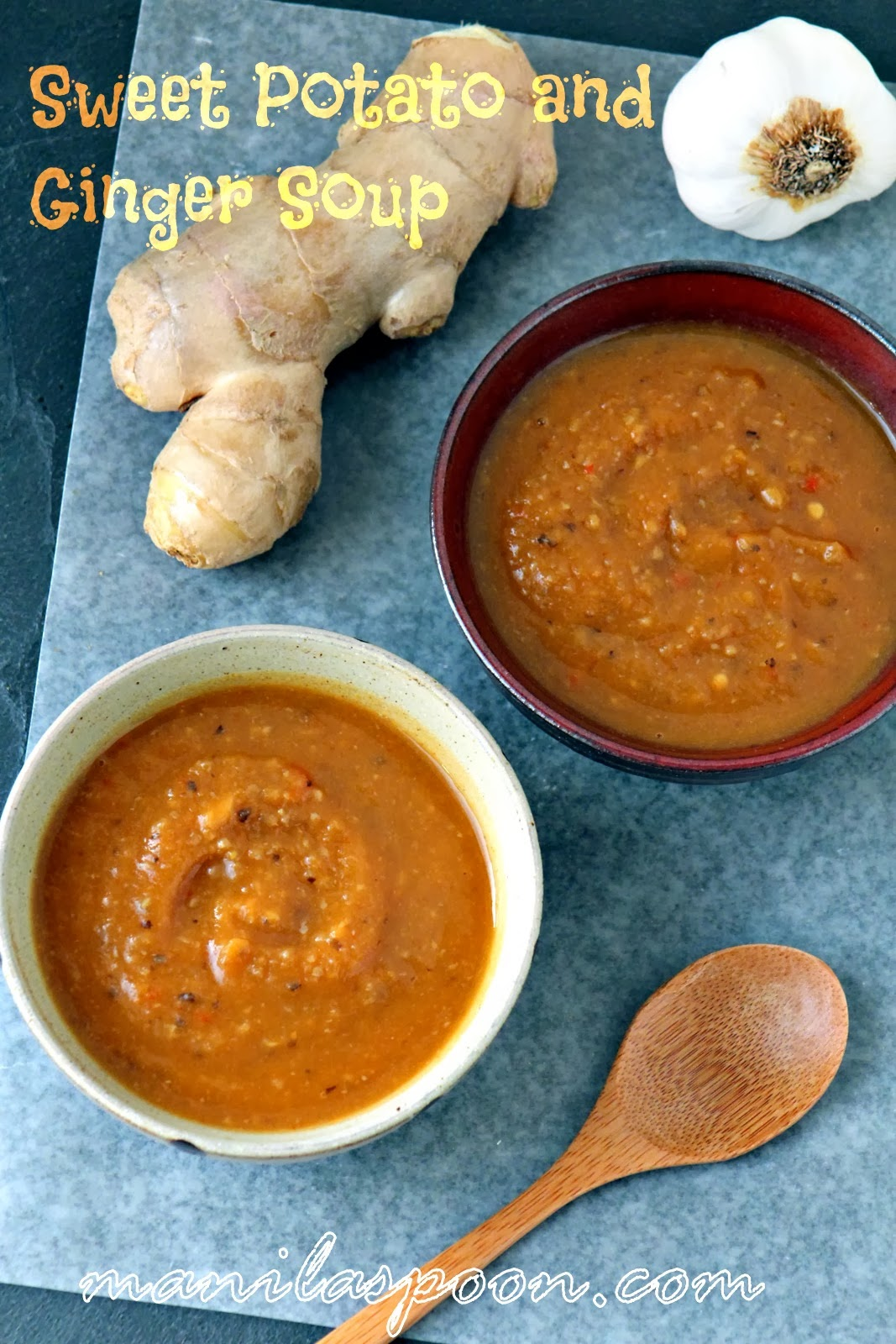 Sweet Potato and Ginger Soup (Yummy Recipe to help cure the Flu)
