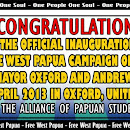 The Alliance of Papua Students [AMP] Support Letters