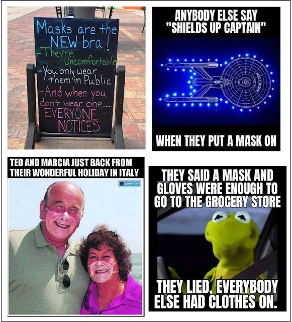 funny covid mask memes