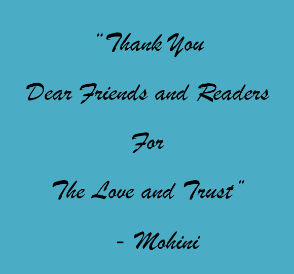 Text Image: Thank You Dear Readers and Friends