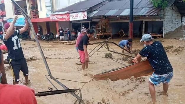 Kota Parapat Dilanda Banjir, Ini Penjelasan Kasat Lantas Simalungun