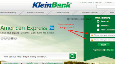 Sign Up with Klein Bank