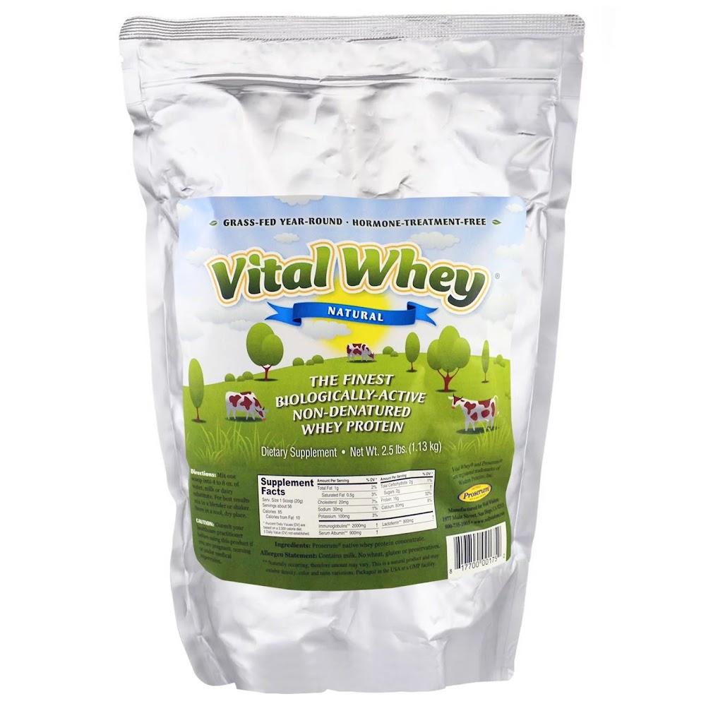 Well Wisdom, Vital Whey, натуральный, 2,5 фунта (1,13 кг)