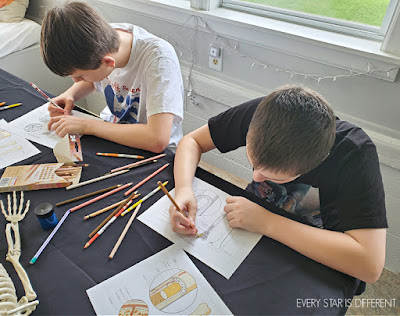 Bone Structure Coloring Activity in Action