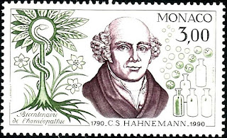 Medical theme stamps Monaco C.S. Hahnemann