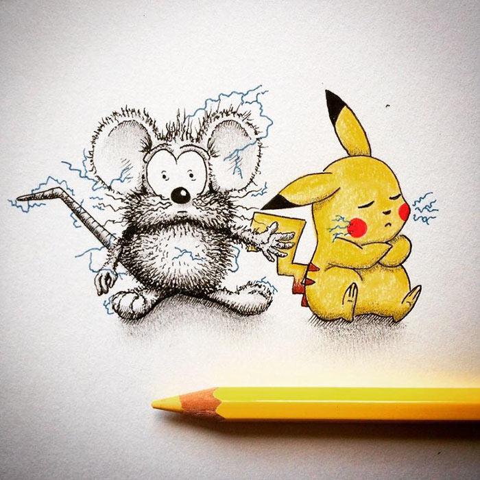 Linda dibujo de ratón simplemente no permanece dentro de la página