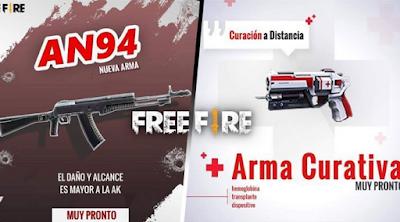Update Free Fire mempersembahkan senjata baru: AN94 dan Healing Weapon