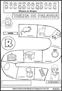 Trilha de palavra para alfabetização