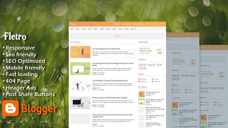Fletro Premium 2 Responsive Blogger Template