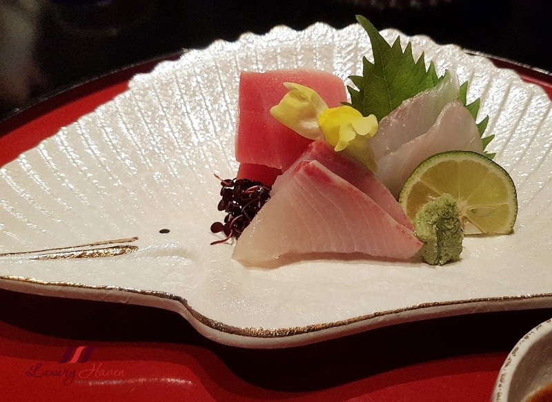 keio plaza japanese fine dining sashimi review