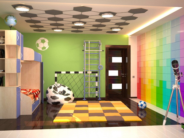 Bright interiors children 39 s rooms and cool designs for - Kids game room ideas ...