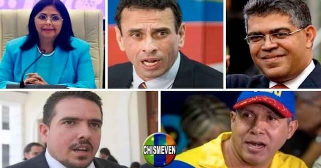 BANDIDOS | Delcy, Capriles, Stalin y Falcón se negocian a Venezuela entre ellos