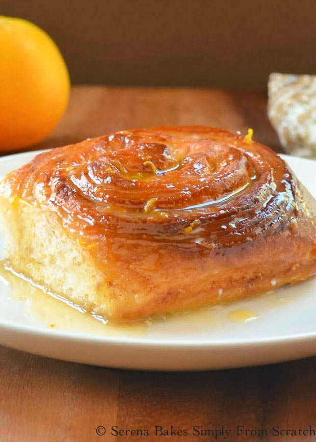 Orange Cinnamon Rolls are a favorite recipe for breakfast! Citrus orange goodness perfect for brunch from Serena Bakes Simply From Scratch.