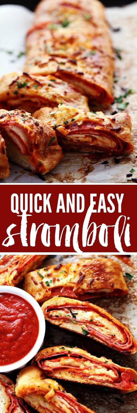 QUICK AND EASY STROMBOLI #Quick #Easy #Stromboli #Easyrecipe #Easydinner #Delecious