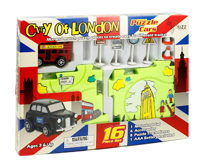"Image of ""City of London Puzzle Cars Set"" in box."