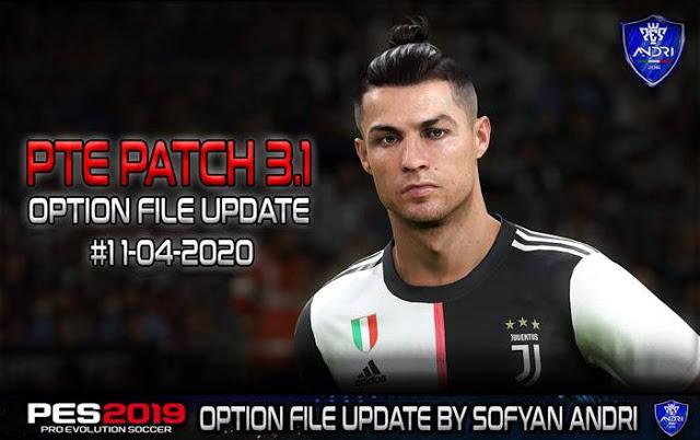 PES 2019 Option File Update For PTE Patch V3.1 #11-04-2020