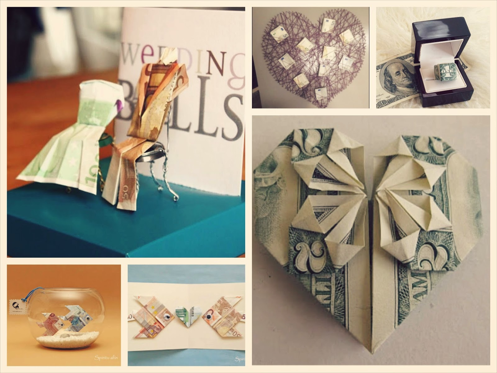 Regalos diferentes y originales para los novios, dar dinero en una boda de forma original