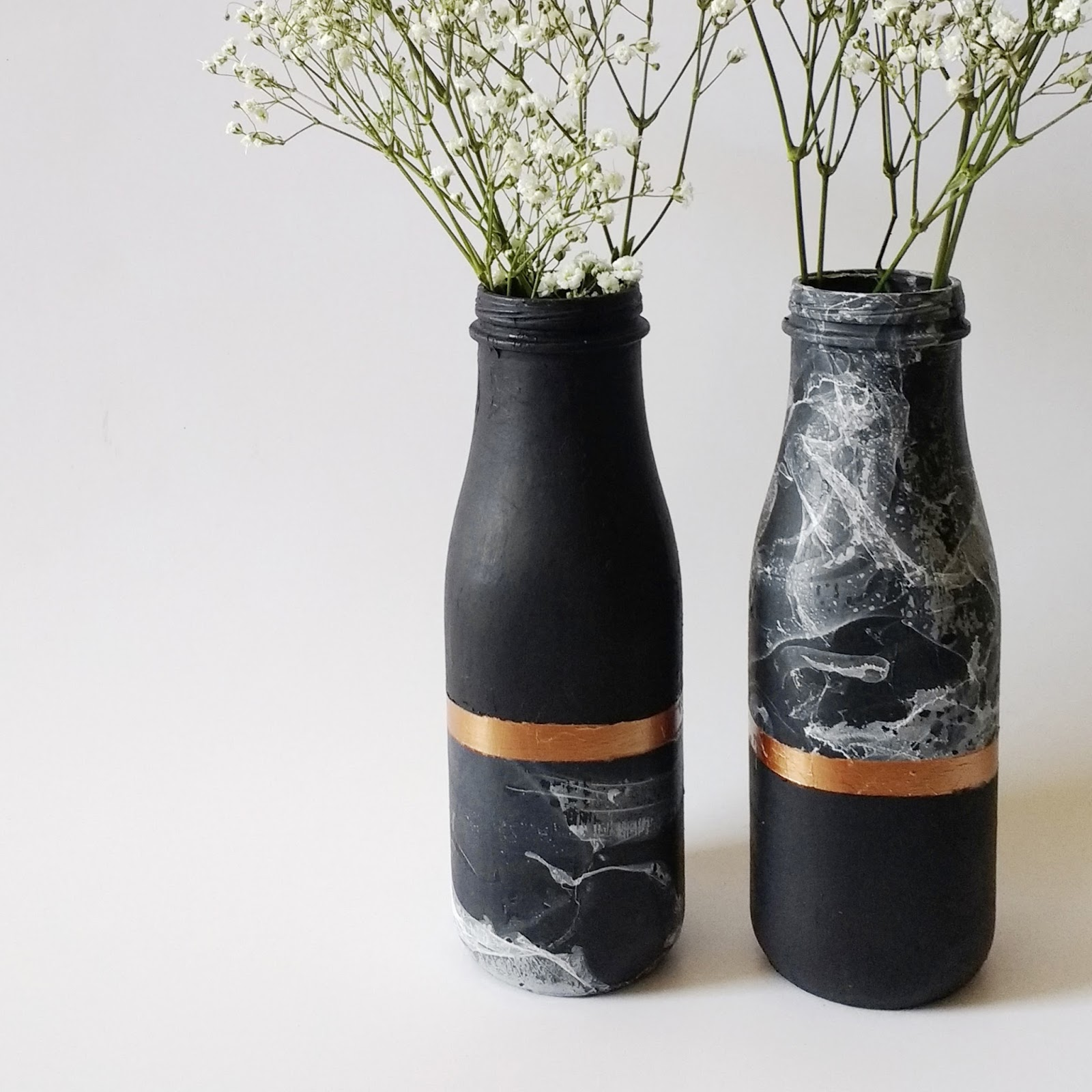 exodus treasures diy copper and marble vase. Black Bedroom Furniture Sets. Home Design Ideas