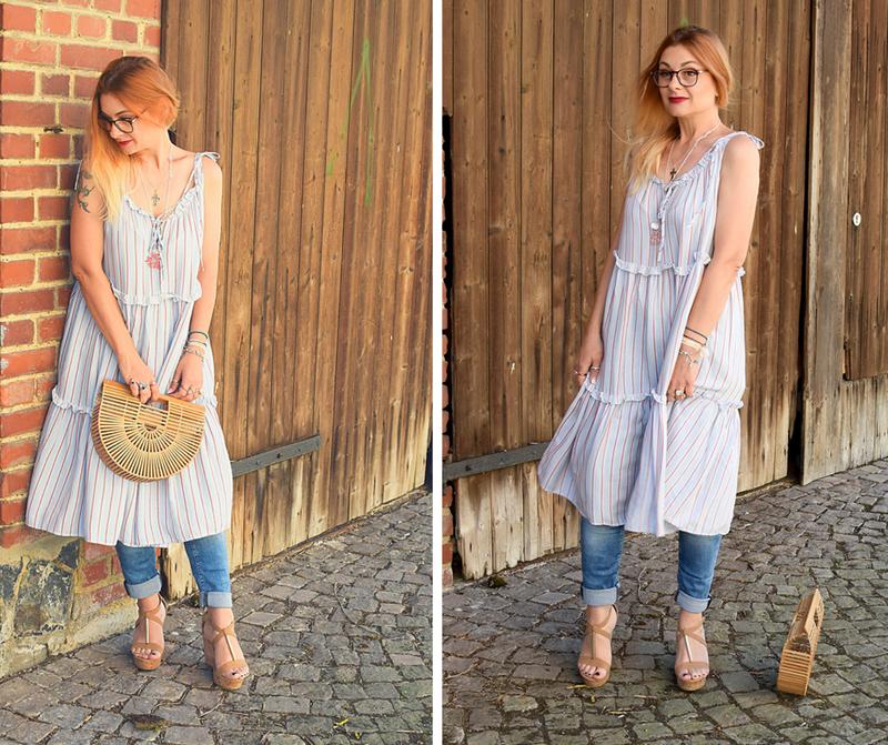 Ü40 Blogger, Streetstyle, Kleid über Hose