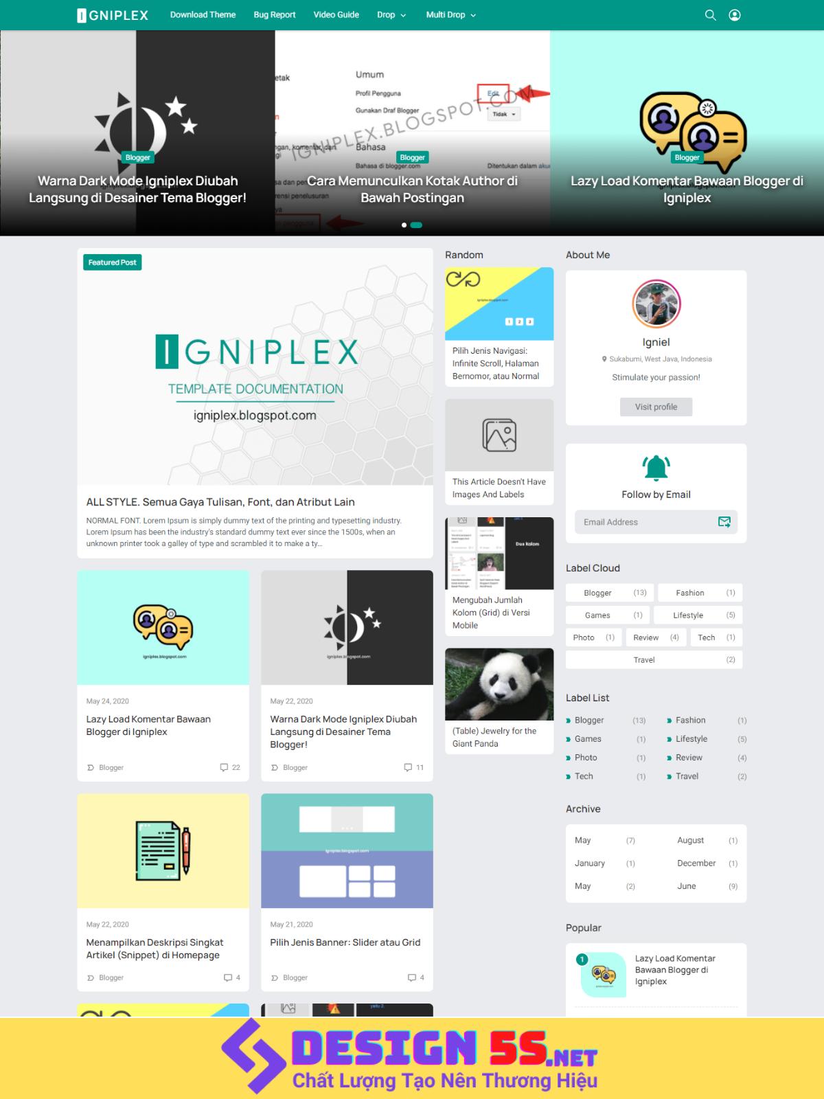 Igniplex Template Blogspot Chuẩn SEO, Tải Nhanh Miễn Phí