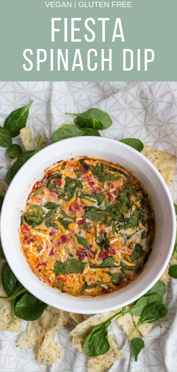 Fiesta Spinach Dip - SuperBowl Party  Food, Gluten Free, Vegan - no nuts or tofu