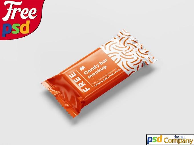Download Free Candy Bar PSD Mockup #1